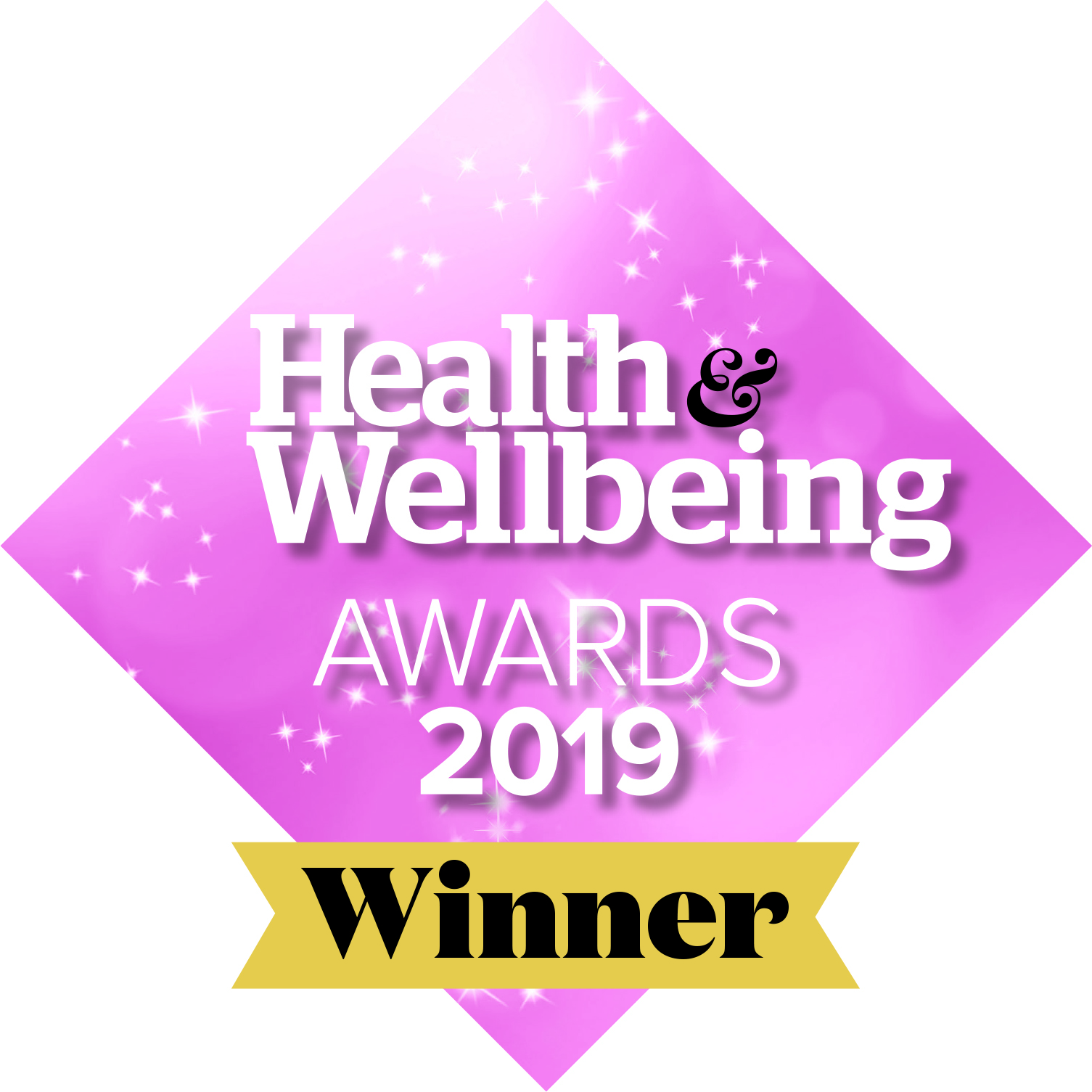 Graphic for Winner of Health & Wellbeing Awards 2019